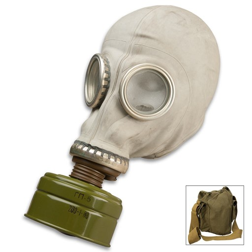 GENUINE SURPLUS Gas Mask - GP-5 - Russian - Civilian - [Complete]