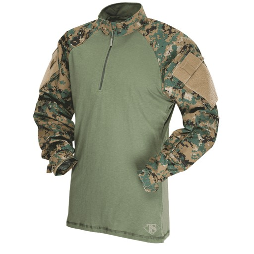 TRU-SPEC TRU-SPEC, Tactical Response Uniform (TRU), 1/4 Zip Combat Shirt, MARPAT Woodland