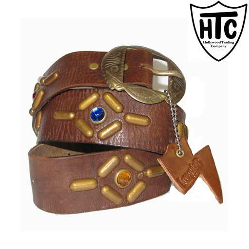HOLLYWOOD TRADING CO. HTC Hollywood Trading Company, Irregular Belt, Brown Antique Brass