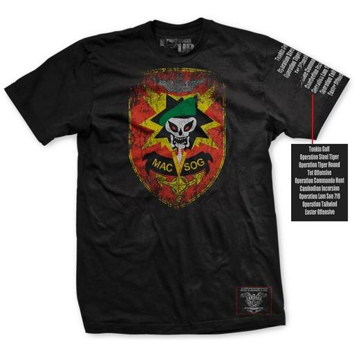 RANGER UP Ranger Up, MAC-V-SOG, Ultra Thin Vintage T-Shirt