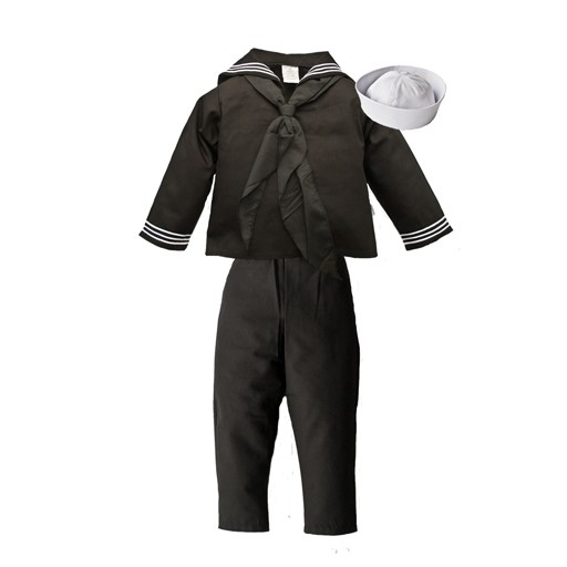 TROOPER CLOTHING Trooper Clothing, Kids Navy , 4-Piece Cracker Jack Uniform, Jacket-Pant-Cap-Scarf