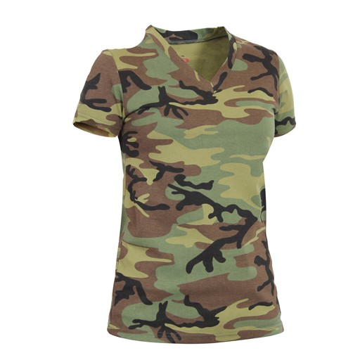 ROTHCO Rothco, Womens V-Neck T-Shirt, Woodland
