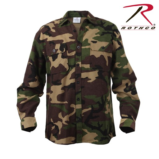 ROTHCO Rothco Extra Heavyweight Camo Flannel Shirt