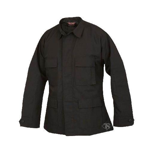 TRU-SPEC Tru Spec, BDU Coat, Black, 65/53 Polyester/Cotton