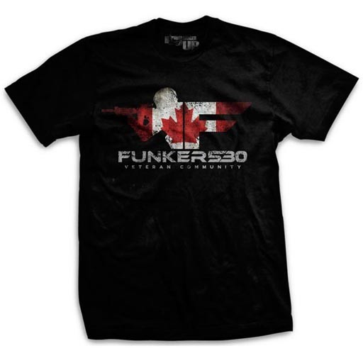 RANGER UP Ranger Up, Funker Canada Ultra-Thin Vintage T-Shirt