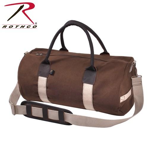 ROTHCO Rothco, 19'' Canvas & Leather Gym Bag