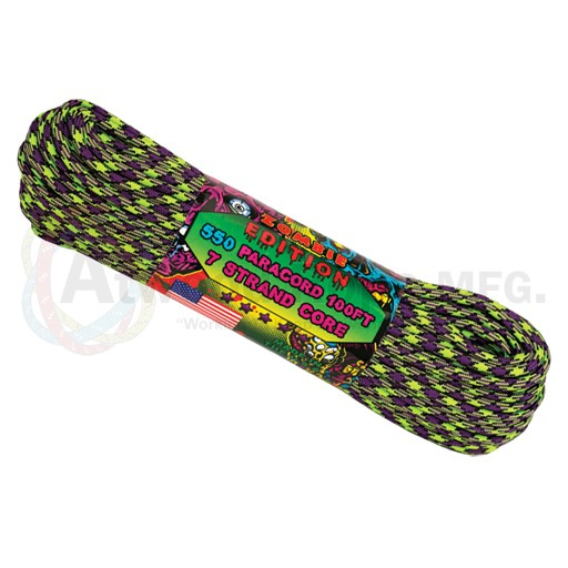 Atwood Atwood Rope, 100 Feet Paracord, Zombie
