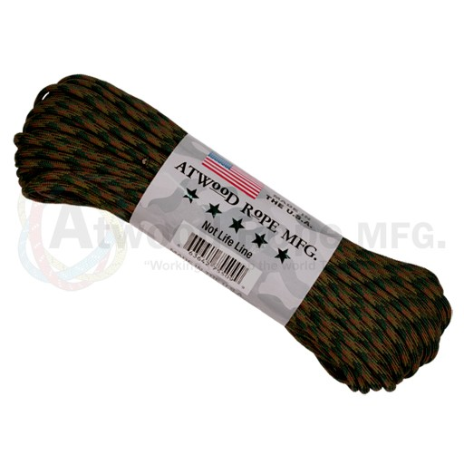 Atwood Atwood Rope, 100 Feet Paracord, Camo