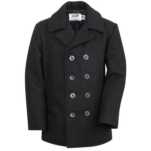 SCHOTT NYC Schott N.Y.C, Classic Malton Wool Navy Pea Coat