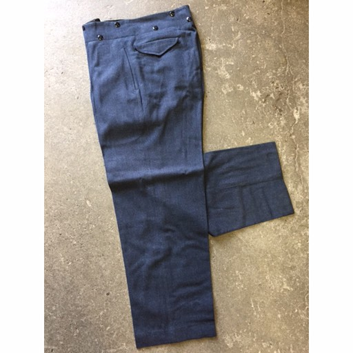 ROYAL RAGS Pant, Wool, AIRMAN, RCAF, Airforce Blue, 60's Era