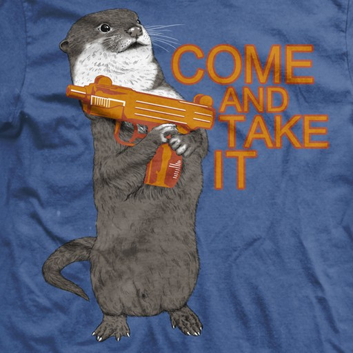 RANGER UP Ranger Up, Come And Take It Otter, Normal-Fit, T-Shirt