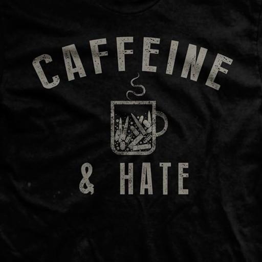 RANGER UP Ranger Up, Bullets Caffine and Hate, Ultra-Thin Vintage T-Shirt