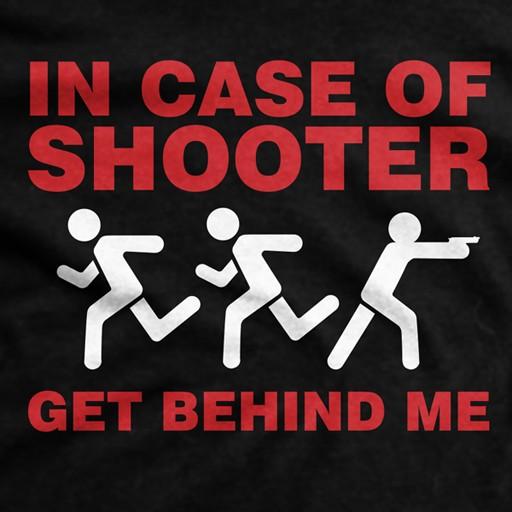 Ranger Up, Men's, In Case of Shooter, Normal Fit T-Shirt