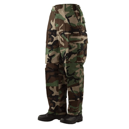 TRU-SPEC TRU-SPEC, Classic BDU Pants, Woodland, 100% Cotton RipStop