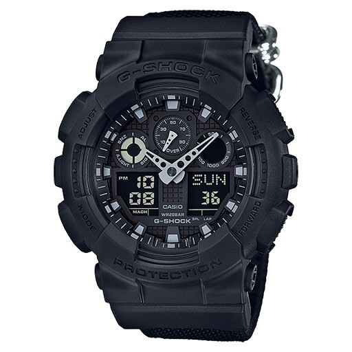 G-Shock G-Shock, GA100BBN-1A, Anolog Digital, Basic Black