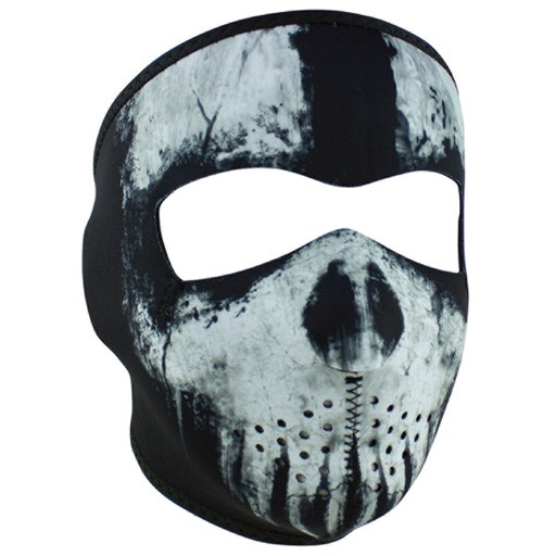 ZAN ZAN Headgear, Neoprene Full Mask, Skull Ghost