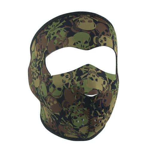 ZAN ZAN Headgear, Neoprene Full Mask, All Over Skull Camo