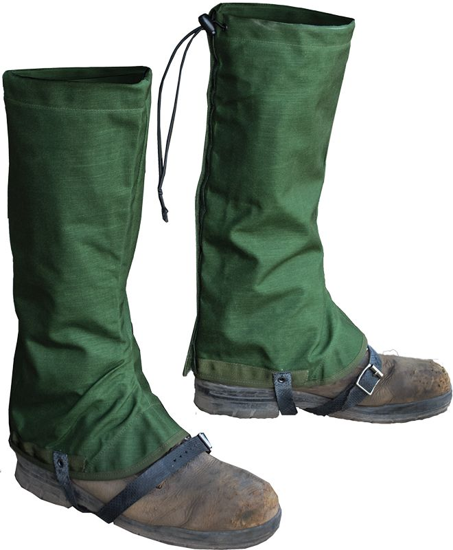 GENUINE SURPLUS Gaiters, British, Snow MK II, Un-Issued, Genuine Issue, Olive, Goretex