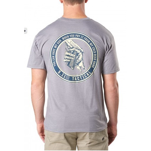5.11 TACTICAL 5.11 Tactical, Cold Dead Hands Tee, Heather Grey