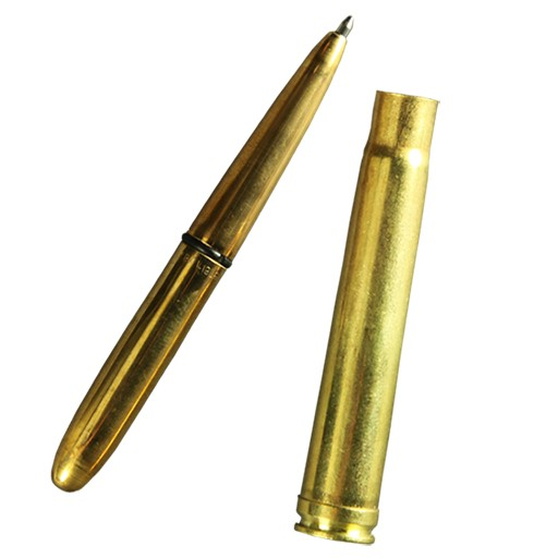 RITE IN THE RAIN Rite in the Rain, .375 MAG Brass Bullet Pen, Black Pen