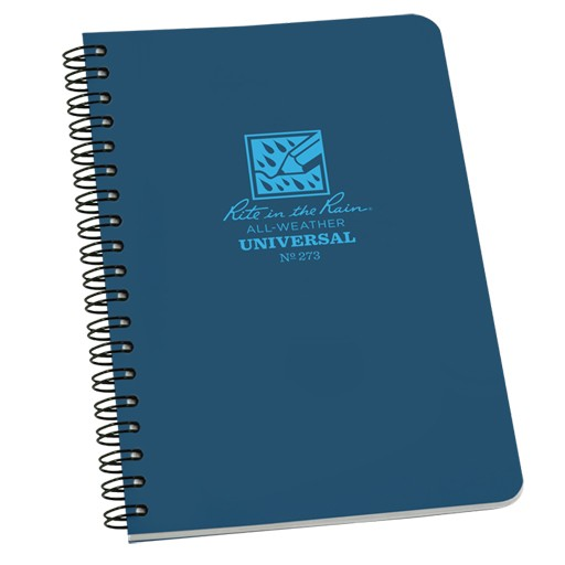RITE IN THE RAIN Rite in the Rain, Universal Polydura Notebook, 4 5/8'' x 7'', Blue