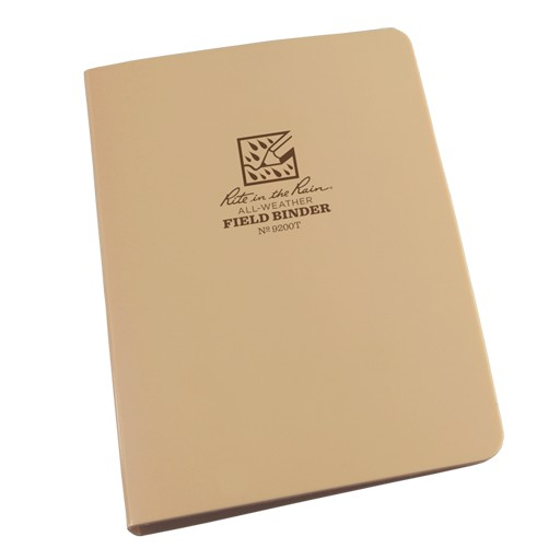 RITE IN THE RAIN Rite in the Rain, Ring Binder 1/2'' Capacity, 5 5/8'' x 7 7/8'', Tan