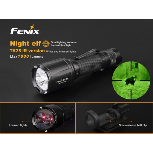 FENIX Fenix, TK25IR Infrared Flashlight, 1000, Lumens