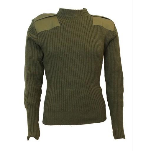 GENUINE SURPLUS GI USMC Commando Sweater - OD - USED