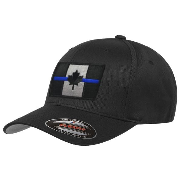 Thin Blue Line Thin Blue Line Canadian Flag FlexFit Cap