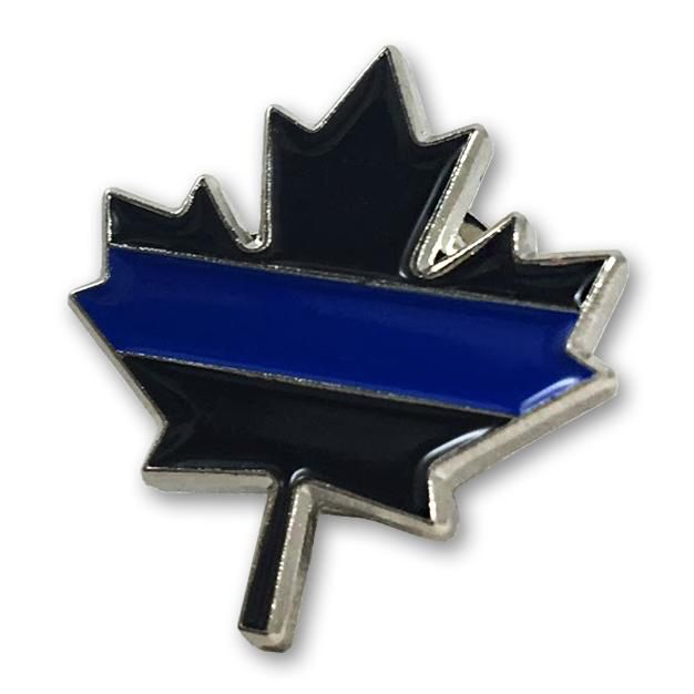 Thin Blue Line Thin Blue Line Pin Canadian Maple Leaf
