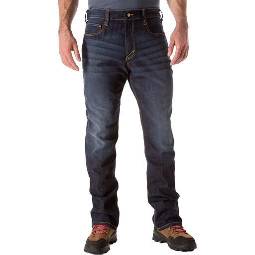 5.11 TACTICAL 5.11 Tactical, Defender-Flex Straight Jean, Dark Wash Indigo