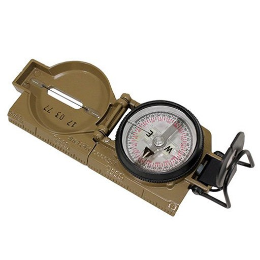 CAMMENGA CAMMENGA, Model 27 Lensatic Compass, Phosphorescent, Coyote