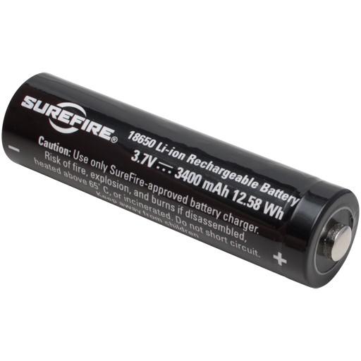SUREFIRE SF18650A, Lithiun-Ion Rechargable Battery