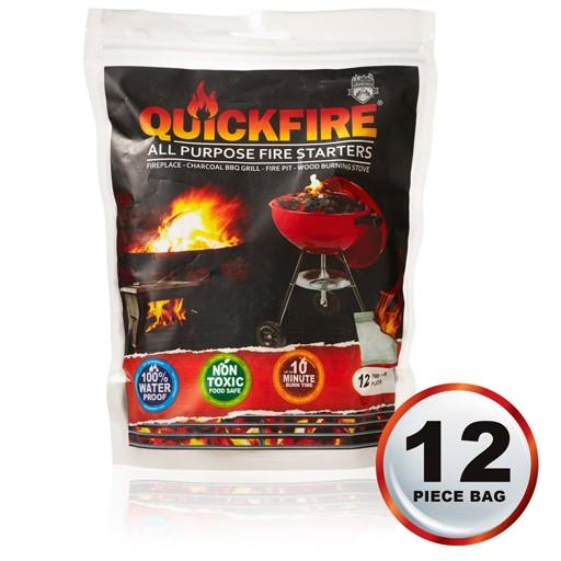 QuickFire All Purpose Fire Starter, Pack of 12