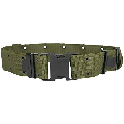 GENUINE SURPLUS Belt, Web, Pistol, Individual Equipment, LC-II, Olive,Genuine, US Army Issue