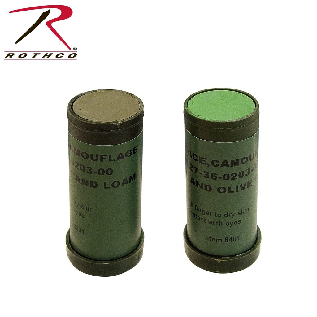 ROTHCO Face Paint - Woodland Sticks - Genuine Issue - LightGreen & Loam