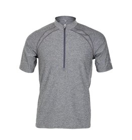 Club Ride Roadeo Men's Short Sleeve Zip Neck Top Shadow M