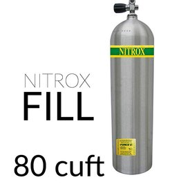 Force-E Air Fill Nitrox Single 80 cu ft