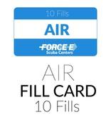 Force-E Scuba Centers Air Fill Card