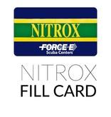 Force-E Scuba Centers Air Fill Card  - Nitrox