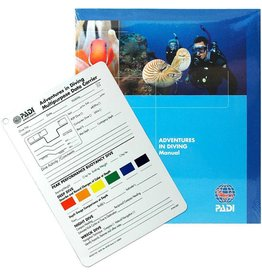 PADI Adventures in Diving Manual w/Data Carrier Slate