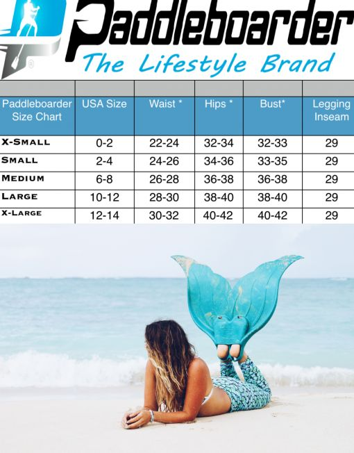 Paddleboarder Mermaid Reversible Bikini Bottom