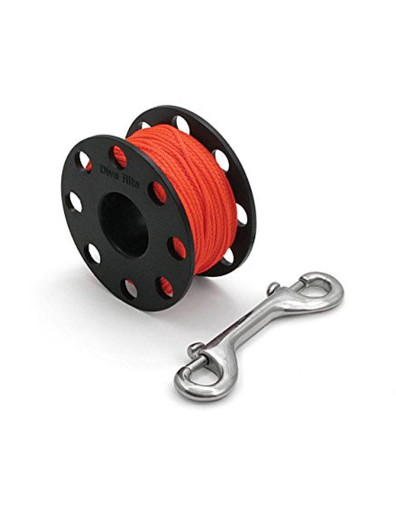 Dive Rite Dive Rite Finger Spool 125' #24 Orange Line