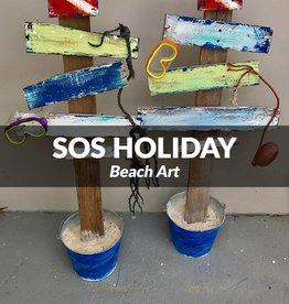 SOS Holiday Beach Art