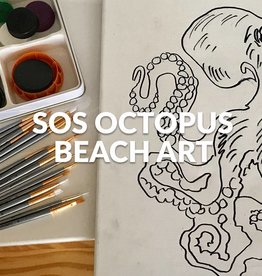 Stoked on Salt SOS Octopus Beach Art