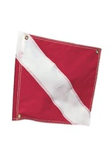 "Marine Sports Mfg. Diver Down Flag, 20"" x 24"" w/Stiffener"