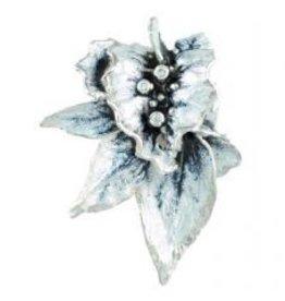 Frozen Leaves Pendant  enamel and 3 diamonds 1 of 3