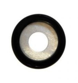 14mm rounded Onyx on Pearl Disc
