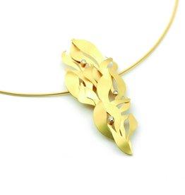 MYRTLE pendant gold 3 diamonds