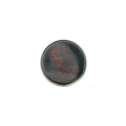 20mm Rock Crystal on Tahitian Centerpiece